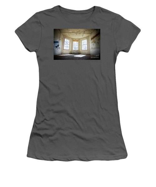Pealing Walls Women's T-Shirt (Junior Cut) by Randall Cogle