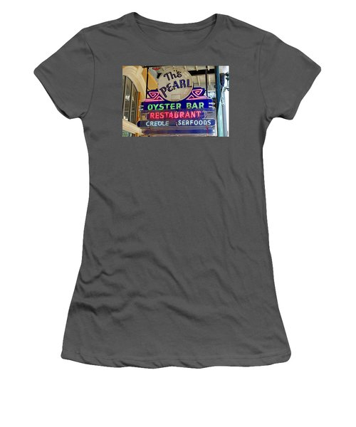 Pearl Oyster Bar Women's T-Shirt (Athletic Fit)