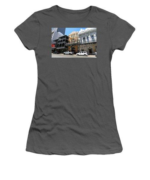 Pearl Oyster Bar Women's T-Shirt (Junior Cut) by Steven Spak