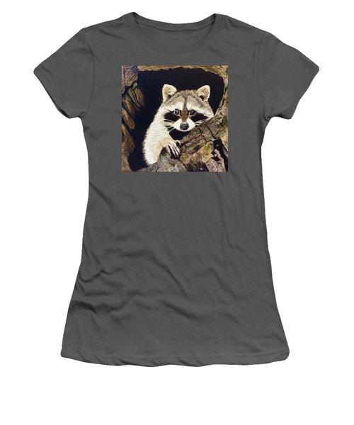 Peeking Out Women's T-Shirt (Athletic Fit)