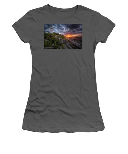 Pemaquid Sunrise Women's T-Shirt (Junior Cut) by Neil Shapiro