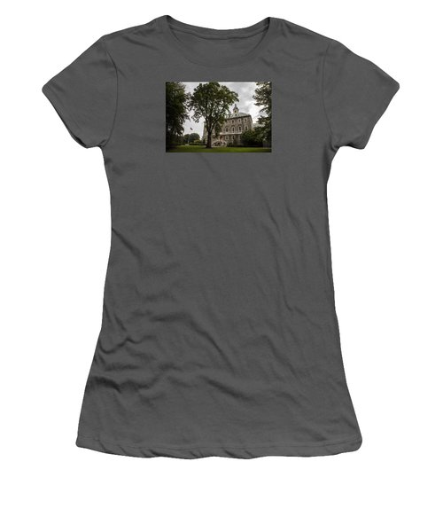 Penn State Old Main And Tree Women's T-Shirt (Junior Cut) by John McGraw