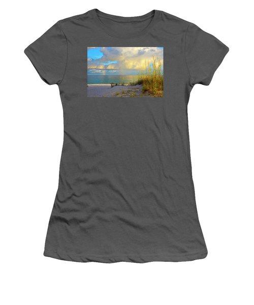 Pensacola Rainbow At Sunset Women's T-Shirt (Junior Cut) by Marie Hicks