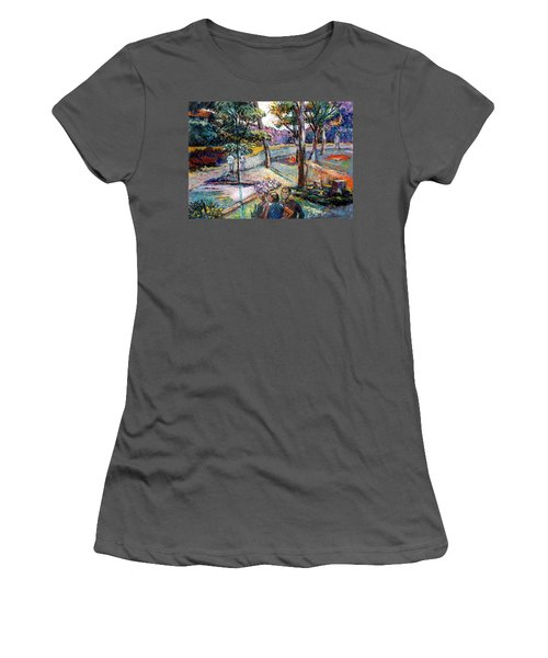 People In Landscape Women's T-Shirt (Athletic Fit)