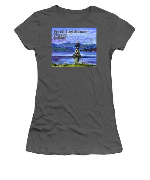 Perch Lighthouse Scotland Women's T-Shirt (Athletic Fit)