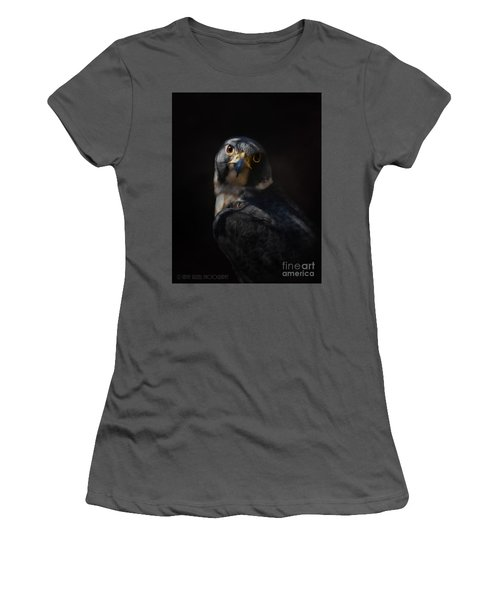 Peregrine Falcon Women's T-Shirt (Junior Cut) by Kathy Russell