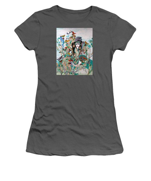 Persian Painting # 2 Women's T-Shirt (Junior Cut) by Sima Amid Wewetzer