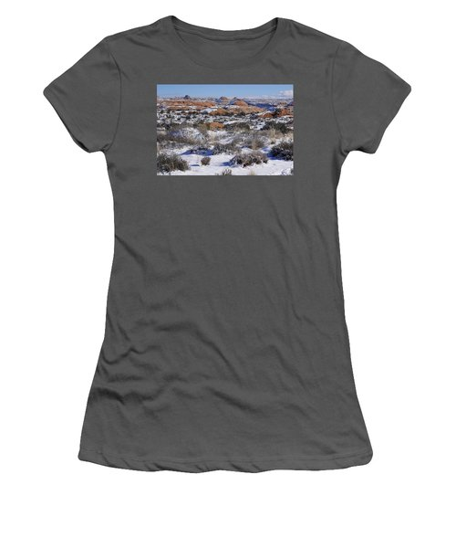 Petrified Dunes At Arches National Park Women's T-Shirt (Athletic Fit)