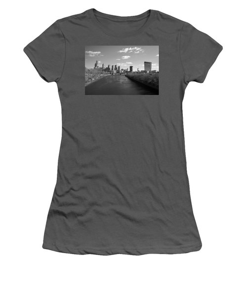 Philly B/w Women's T-Shirt (Athletic Fit)