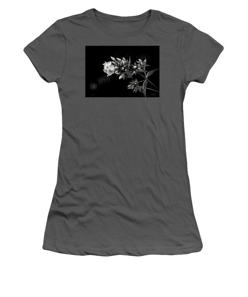 Phlox In Black And White Women's T-Shirt (Athletic Fit)
