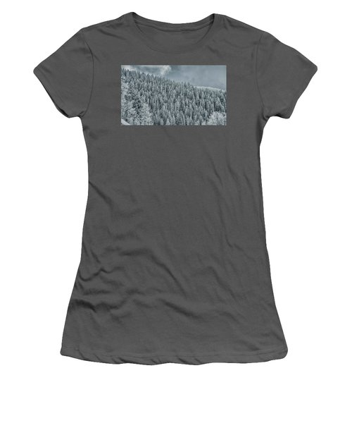 Winter Pines Women's T-Shirt (Athletic Fit)