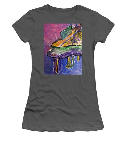 Piano Purple - Cropped Women's T-Shirt (Athletic Fit)