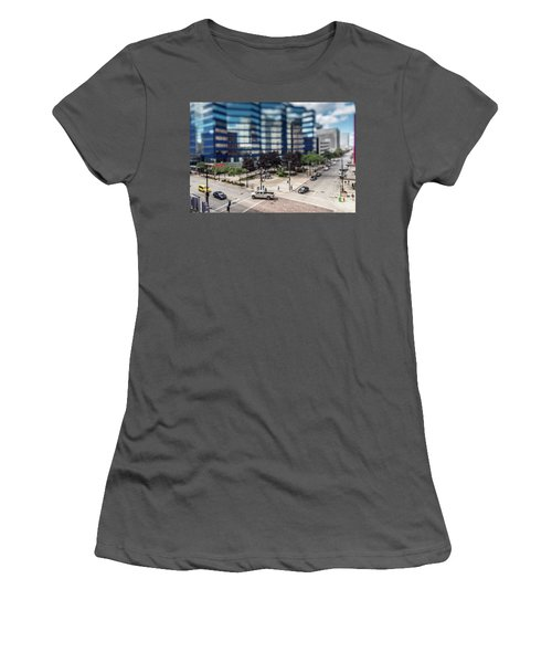 Pick-up Truck In The Itty-bitty-city Women's T-Shirt (Athletic Fit)