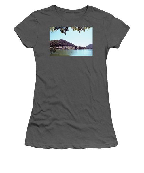 Piediluco And Piediluco Lake Women's T-Shirt (Athletic Fit)