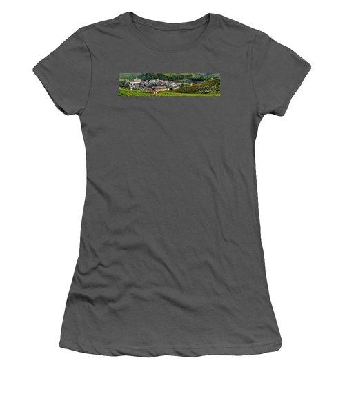 Women's T-Shirt (Junior Cut) featuring the photograph Piemonte Panoramic by Brian Jannsen