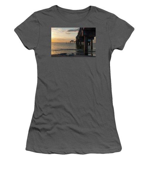 Pier 60 Sunset Women's T-Shirt (Athletic Fit)