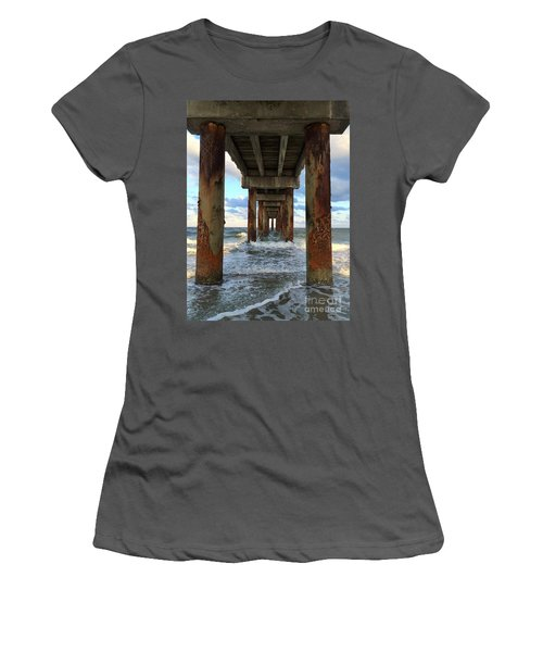 Pier In Strength And Peaceful Serenity Women's T-Shirt (Junior Cut) by Cindy Croal
