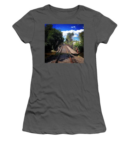 Pine River Railroad Bridge Women's T-Shirt (Athletic Fit)