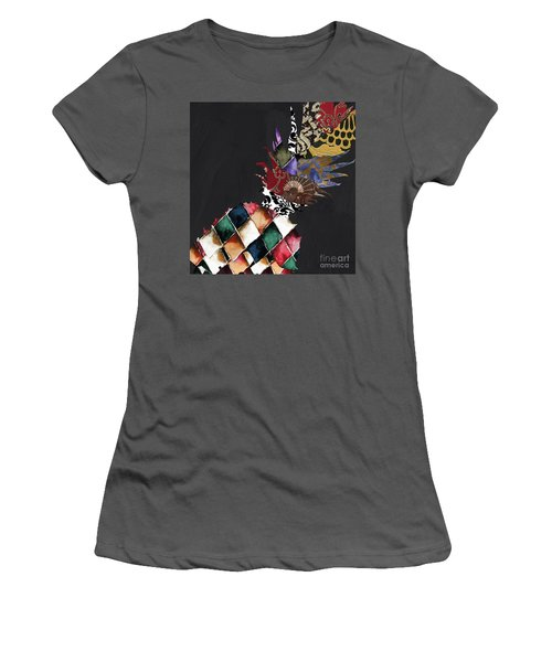 Pineapple Brocade Women's T-Shirt (Athletic Fit)