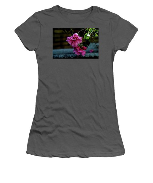 Pink Camellia Women's T-Shirt (Athletic Fit)