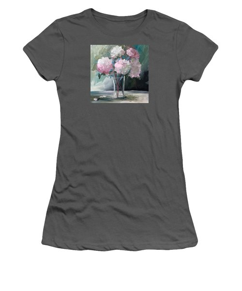 Pink Peonies Women's T-Shirt (Junior Cut) by Terri Einer