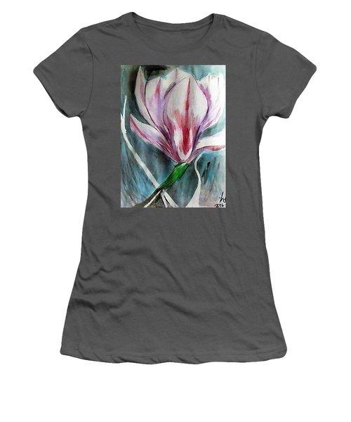 Pink Magnolia Women's T-Shirt (Junior Cut) by Loretta Nash