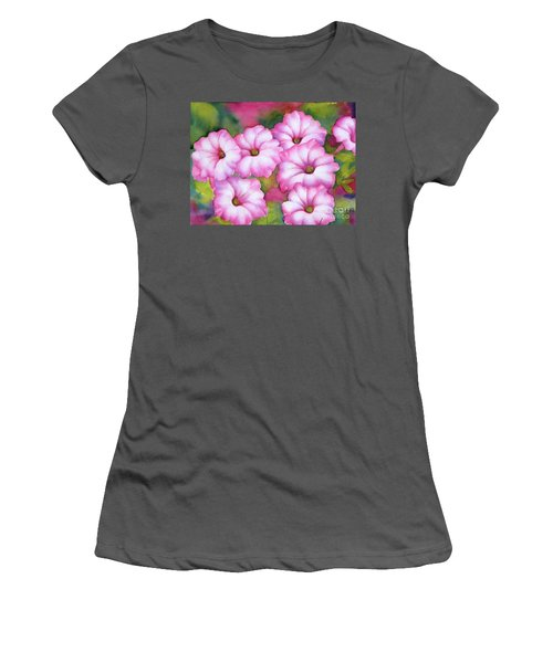 Pink Petunias Women's T-Shirt (Athletic Fit)