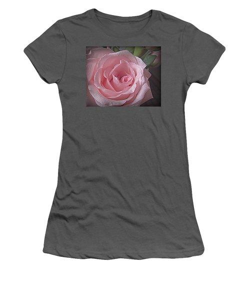 Pink Rose Bliss Women's T-Shirt (Junior Cut) by Suzy Piatt