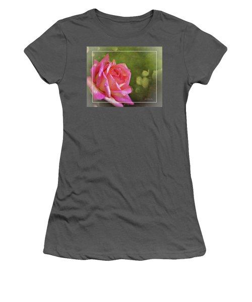 Pink Rose Dream Digital Art 3 Women's T-Shirt (Athletic Fit)