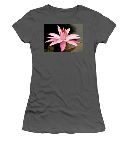 Pink Water Lily Women's T-Shirt (Athletic Fit)
