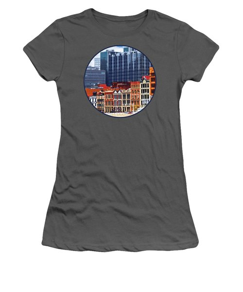 Pittsburgh Pa Skyline Closeup Women's T-Shirt (Athletic Fit)