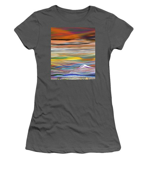 Women's T-Shirt (Junior Cut) featuring the digital art Pittura Digital Ghibli1128 by Sheila Mcdonald
