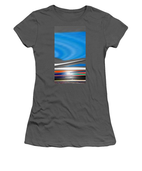Women's T-Shirt (Junior Cut) featuring the digital art Pittura Digital by Sheila Mcdonald