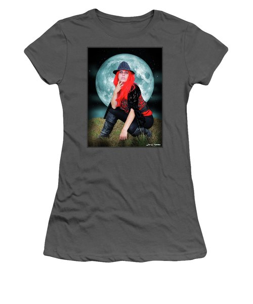 Pixie Under A Blue Moon Women's T-Shirt (Athletic Fit)