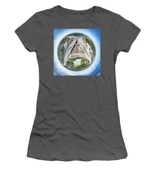 Planet Under Construction Women's T-Shirt (Athletic Fit)
