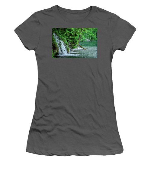 Plitvice Lakes National Park, Croatia - The Intersection Of Upper And Lower Lakes Women's T-Shirt (Athletic Fit)