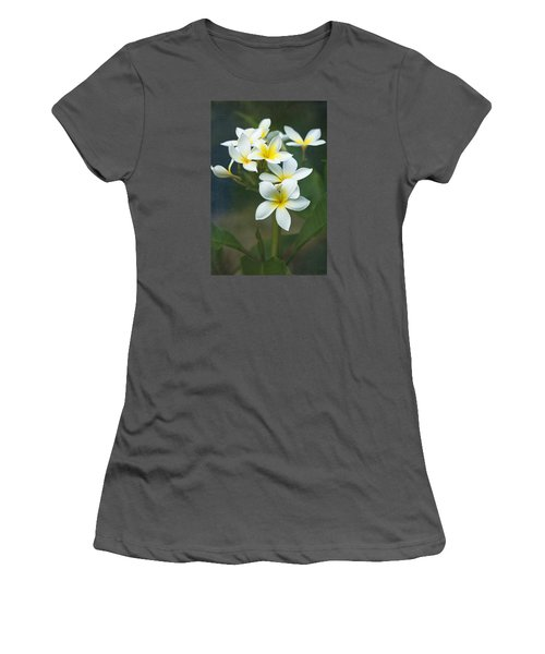 Plumerias On A Cloudy Day Women's T-Shirt (Athletic Fit)