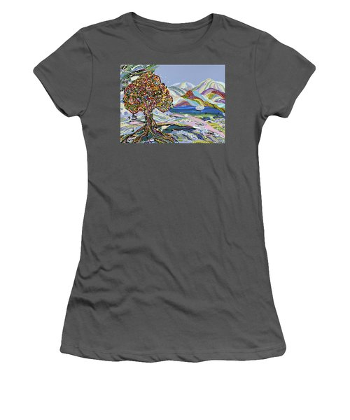 Poet's Lake Women's T-Shirt (Athletic Fit)