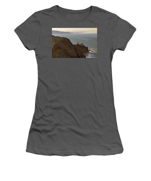 Point Bonita Lighthouse In San Francisco Women's T-Shirt (Athletic Fit)
