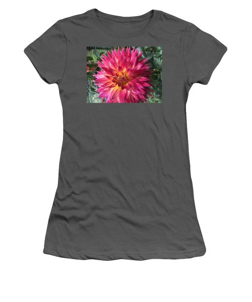 Pointed Dahlia Women's T-Shirt (Athletic Fit)