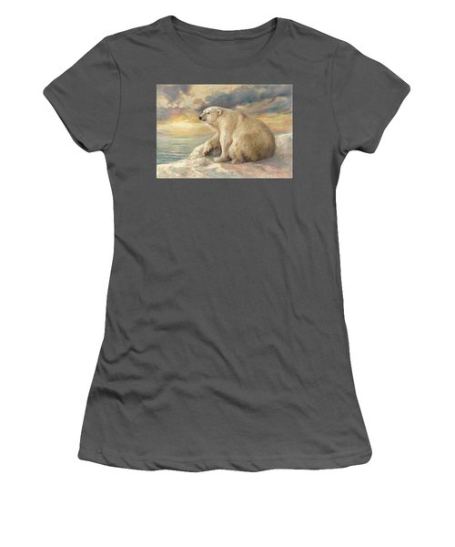 Polar Bear Rests On The Ice - Arctic Alaska Women's T-Shirt (Athletic Fit)