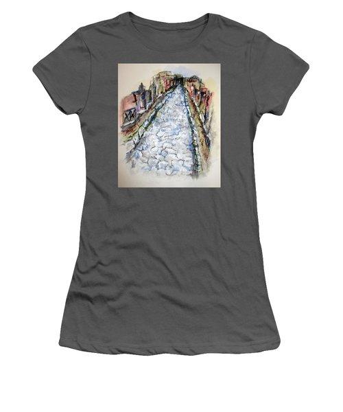 Pompeii Road Women's T-Shirt (Junior Cut) by Clyde J Kell
