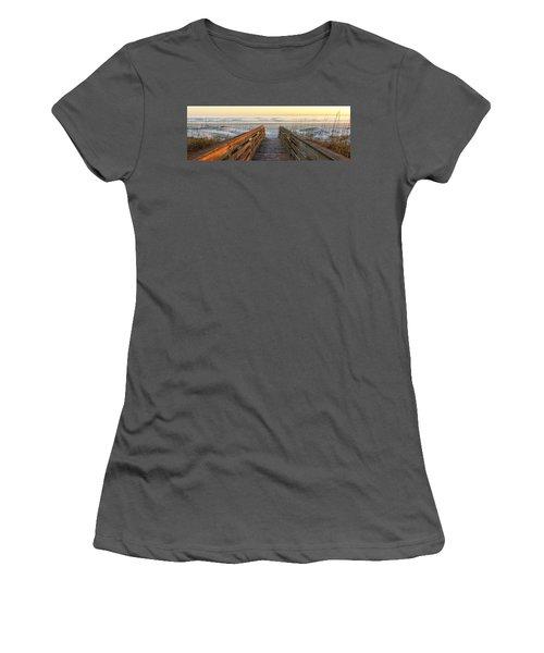Ponce De Leon Inlet Beach Path Women's T-Shirt (Athletic Fit)