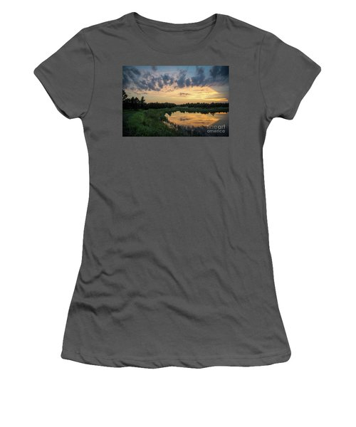 Pond And Sunset Women's T-Shirt (Athletic Fit)