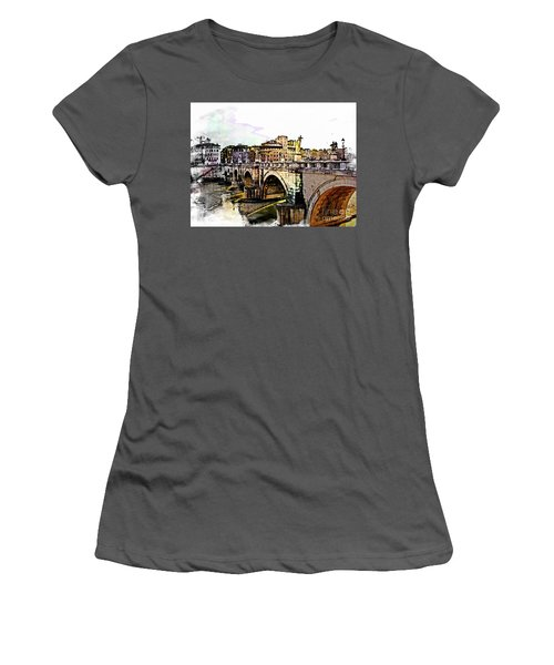 Ponte San Angelo, Rome, Italy Women's T-Shirt (Athletic Fit)