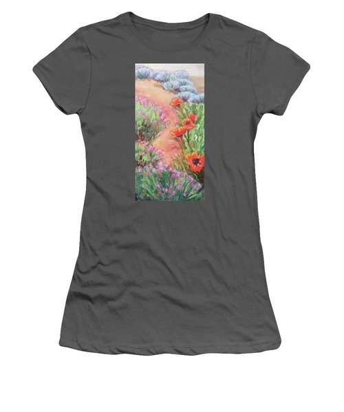 Poppy Pathway Women's T-Shirt (Athletic Fit)
