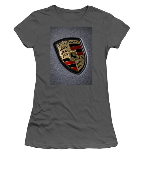 Porsche Women's T-Shirt (Junior Cut) by Gordon Dean II