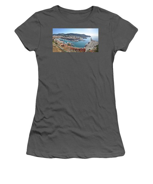 Women's T-Shirt (Junior Cut) featuring the photograph Port Nice Panorama by Yhun Suarez