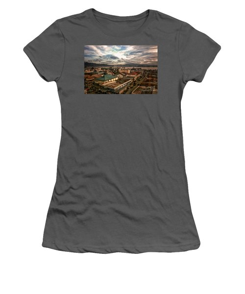 Port View At River Mahakam Women's T-Shirt (Junior Cut)