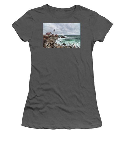 Portland Head Light Nor'easter Women's T-Shirt (Athletic Fit)